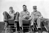 Rudolf Feuerbach, Julian Simms, John Sargent. From the John Sargent Collection, 3918th Supply Squadron, circa 1954. Submitted courtesy of John Sargent's son, Neil Sargent.