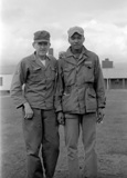 John Sargent, Julian Simms. From the John Sargent Collection, 3918th Supply Squadron, circa 1954. Submitted courtesy of John Sargent's son, Neil Sargent.