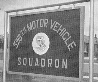 3918th Motor Vehicle Squadron Sign.