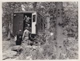 Field Exercise. Setting up Operations Van. 4th AAA Bn. HQ Battery. Submitted by Alfred Trzeciak, PFC US ARMY, 4th AAA Batallion, Headquarters Battery, 32nd Brigade, Oct 1955 - Dec 1956.