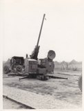 75 MM AA Gun, RADAR controlled. 1956. Guided missles replaced them. Submitted by Alfred Trzeciak, PFC US ARMY, 4th AAA Batallion, Headquarters Battery, 32nd Brigade, Oct 1955 - Dec 1956.