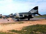 Newly arrived RF-4Cs of the 66th Tactical Recon Wing - September 1969.  McDonnell RF-4C-31-MC Phantom 66-0430 is in the foreground.  This aircraft served for many years, eventually being retired to AMARC on 8 October 1992.