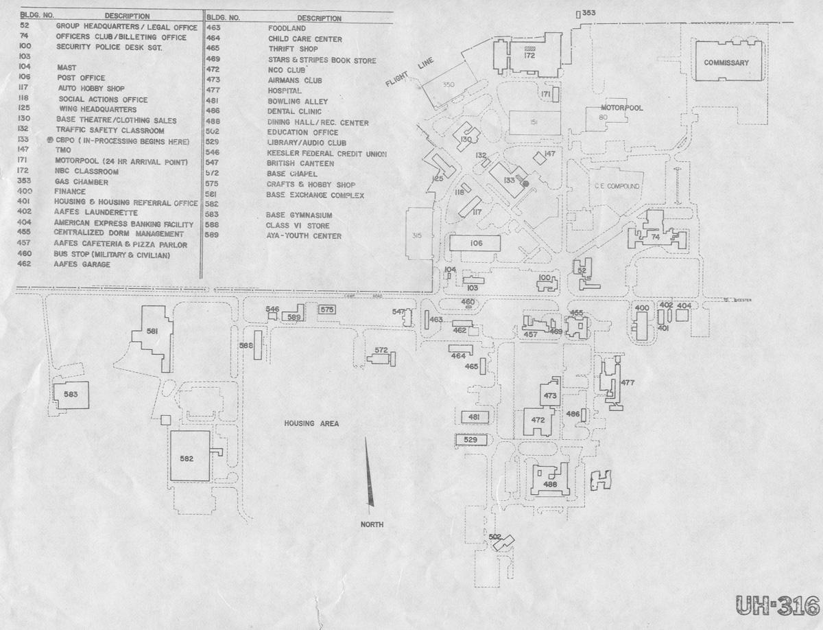 aerial views maps raf upper heyford england submitted by art sevigny ssgt 77tfs 1980 1987