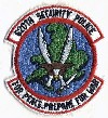 620th Security Police Group patch submitted courtesy of Rene W. Kleingeerts.