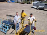Some of the Veterans who volunteer their time to restore the aircraft; Wendel, Chip and Rick.