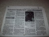 Solomon Leads U.H. Past Alconbury. 4 November 1986. Submitted by Sgt Jerome Solomon, (2130 Comm Squadron) RAF Croughton.