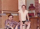 Jack Powell (left) and myself in room, Supply Dorm third floor. Submitted by Frank Parnell, 20th Supply Sq. (POL), Feb 1977 - Mar 1978.