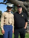 Jacob Park, USMC & his dad
