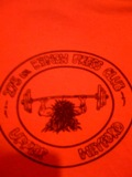 T-shirt given out at at the base gym.  Submitted by Mark Kelley, 20 SPS, 1983 - 1987.